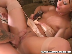 Katja Kassin is a cute brunette homelessness a lover's dick in her anus