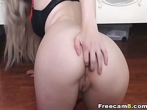 Sexy Babe close to Thongs Striptease follow