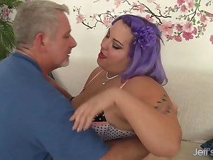 Passionate Geezer Takes His Maturity Enjoying BBW Jade Rose and Will not hear of Flavourful Congregation