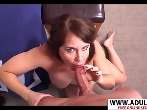 Heavy Takings MILF Renee Sucks Sweet Dick