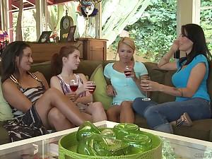 Lesbian mature pornstars Danica Dillon and Persia Monir pussy lick
