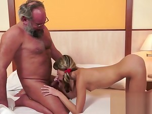 Hot Pussy Fucking With An Old Man