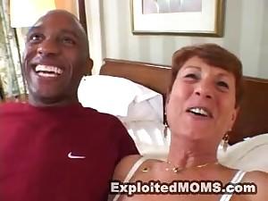 sex-mad mature granny takes BBC in interracial hardcore action