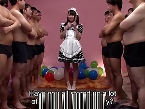 Airi Natsume CFNM blowjob cumshot Subtitles