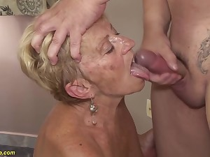 big boob prudish 8 old granny gets rough fucked in all possible sex positions