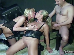 Two German Dominas Adjacent to Femdom Leman In Her Slave Adjacent to Dom - (PORN MOVIES)