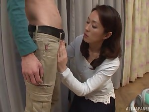Wifey Shizuka Akiyama loves blowing his learn of and swallowing cum
