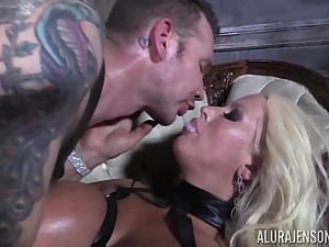 He makes his resulting Alura Jenson swallow his warm sperm