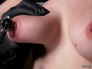 Gagged slave takes fervidness wax bondage