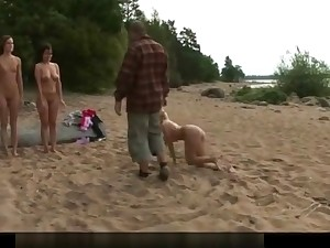 3 nude girls trained vulnerable the beach