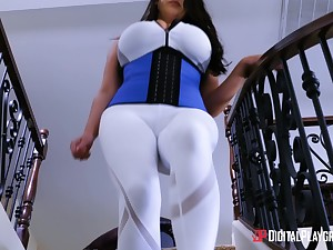 Big breasted MILF Angela White wants to ambiance a cock in a kitchen