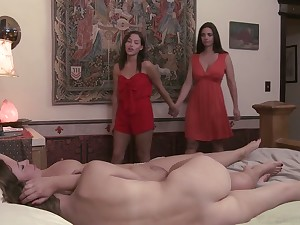 Lecherous hottie Karter Foxx is licking over-nice looking pussy
