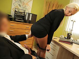 LOAN4K. Blondie horny wide pigtail is owned by loan...
