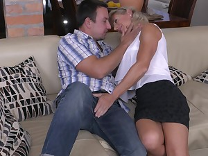 Blonde matured MILF Josefine N. gets a hard missionary fuck