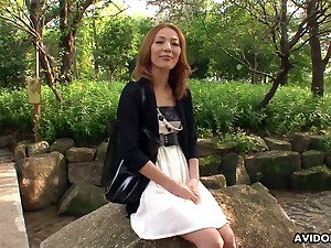 Gifted Japanese hooker Debt Yoshino is fucked wits two offbeat dudes