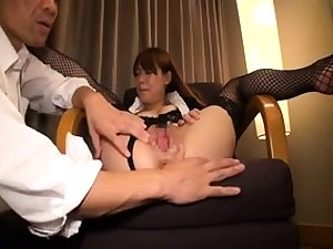 Hairy japanese hole and couch fingering