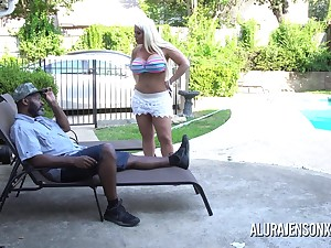 Alura Jenson is decidedly a size queen coupled with loves yourself some big ebony cock!