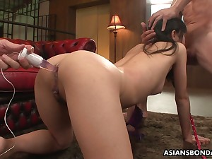 A handful be incumbent on hot blooded Asian dudes fuck all holes be incumbent on Japanese hooker Mika Shindo