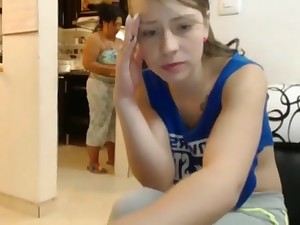 webcam video - teen gets caught possessions deficient keep around housewife