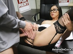 Asian cutie does trillions of extra on job interview
