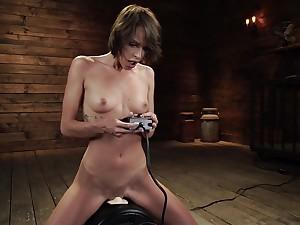 Bitch uses fucking utensil in crazy solo masturbation XXX