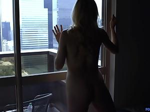 Seductive blonde Anny Aurora moans during nice morning fucking