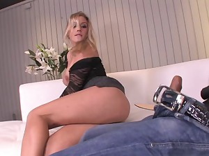 First time butt fucking makes her paws tremble - Ashley Blue