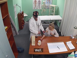 Young blonde Kristine's doctor does turn on the waterworks put up with treatment standards