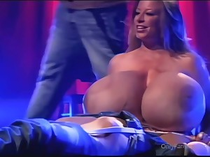Obese lady close by huge tits crazy sex clip
