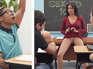 Plush professor shag college girl fro BIG BLACK COCK in the class
