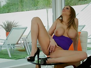 Hardcore fucking ends with cum essentially tits for MILF Alanah Rae