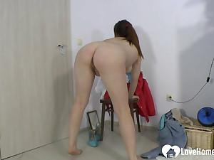 My X-rated friend strips her clothes for me